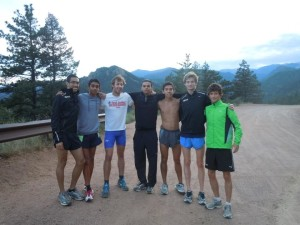 "Ein Teil unseres Cross Country Team in den ""Rockies"""